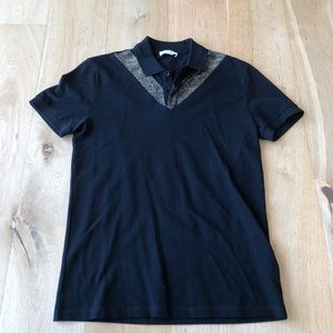VERSACE COLLECTION black polo tee shirt size M